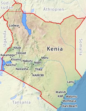 Kenia Karte.Wetter Kenia Klima Und Wetter Nach Städten